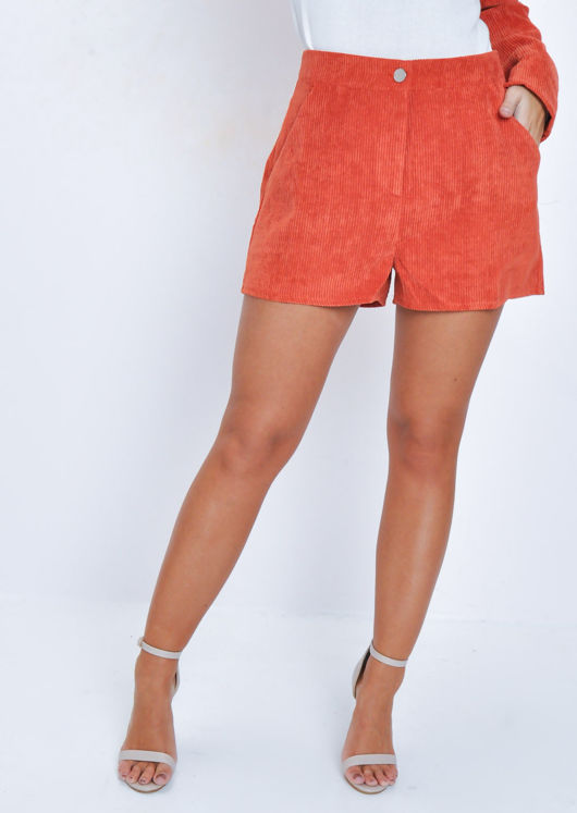 Corduroy Shorts Orange