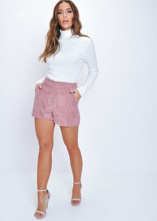 Corduroy Shorts Dusted Pink