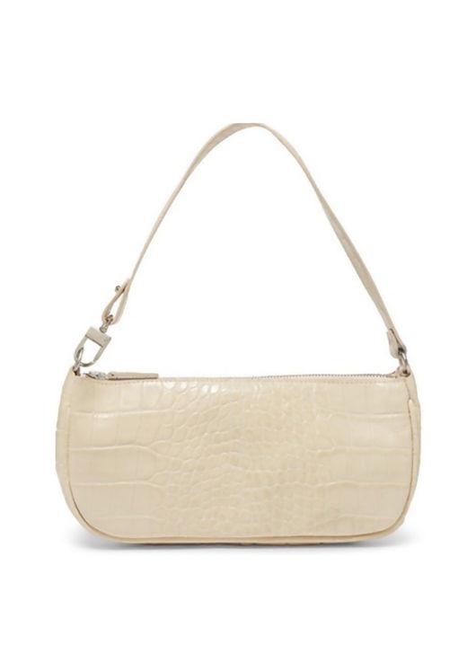 Croc Baguette Mini Shoulder Bag Beige
