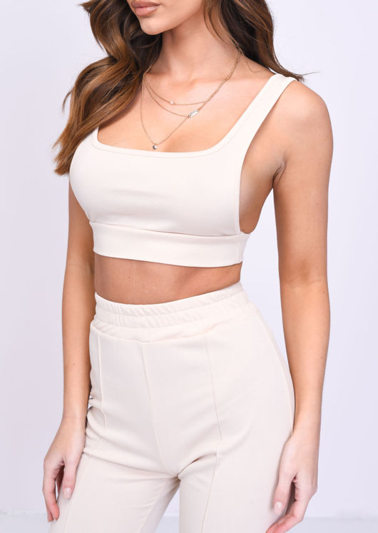 Crop Top And Jogger Loungewear Co ord Set Peach Pink
