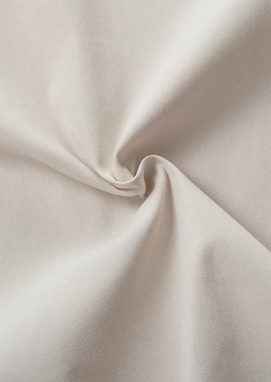 Cross Over Side Slit Zipper Midi Skirt Beige