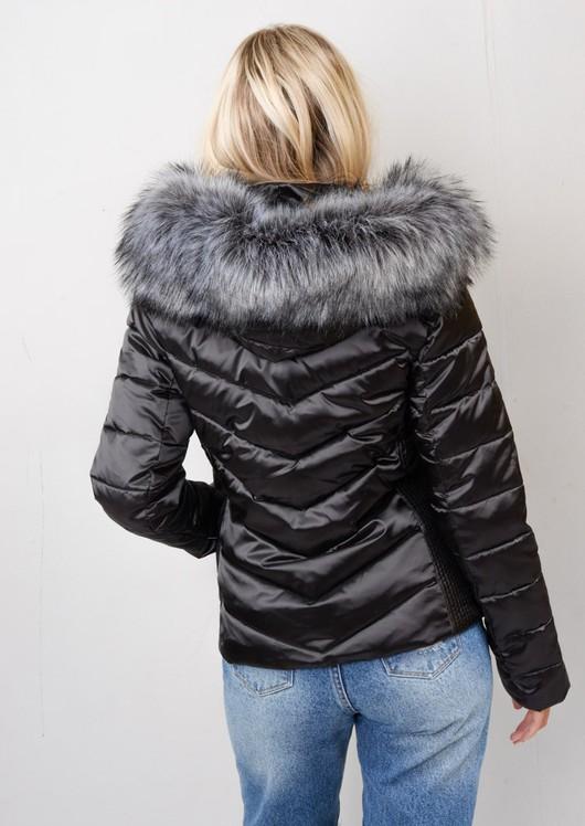 Detachable Hooded Padded Puffer Jacket Coat Black