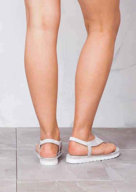 Diamante Embellished Sandals Silver