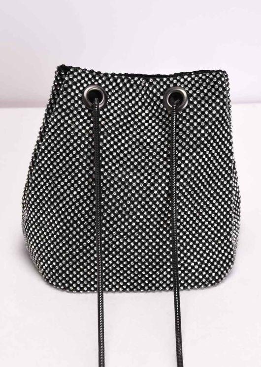 Diamante Pouch Bag Silver