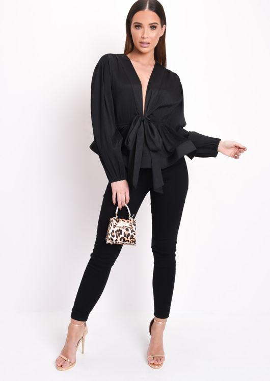 Elle High Waisted Super Skinny Denim Jeans Black