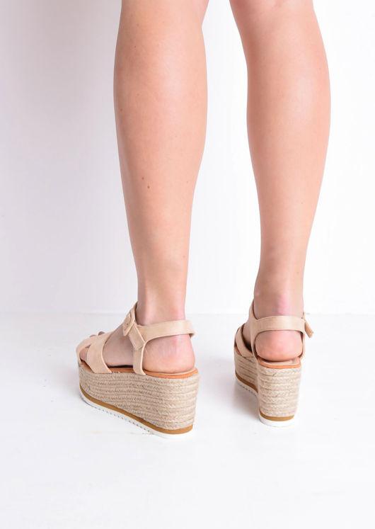 Espadrilles Wedge Sandals Beige