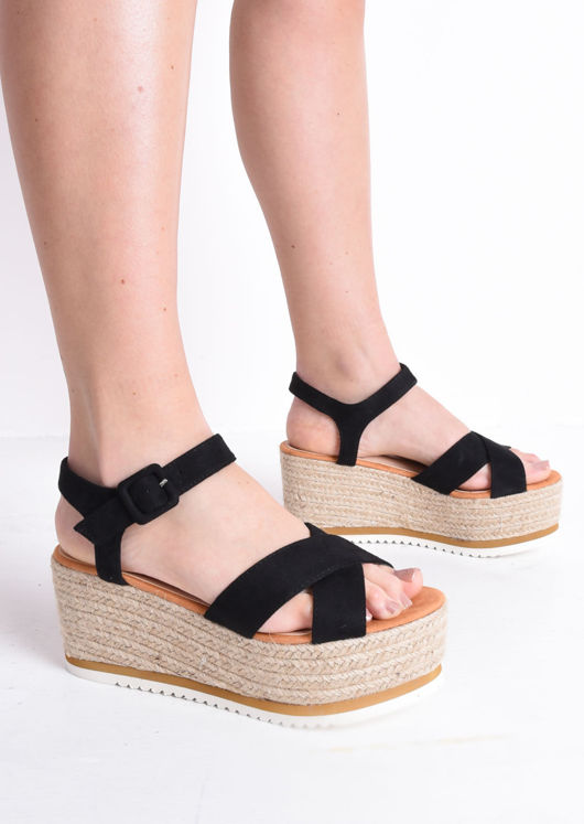 Espadrilles Wedge Sandals Black