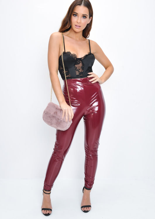 Faux Fur Chain Crossbody Bag Mauve Pink