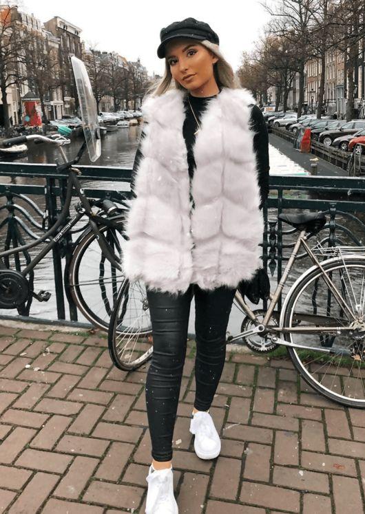 Faux Fur Soft Gilet Grey