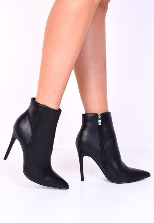 BLACK BUCKLE KNEE HIGH BOOTS HIGH HEELS STILETTO FASHION NEW NEW FAUX LEATHER