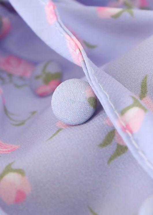 Floral Drawstring Cup Crop Top Purple