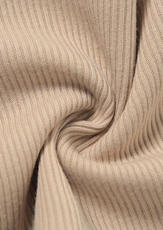 Front Wrap Open Back Tie Halterneck Crop Top Beige