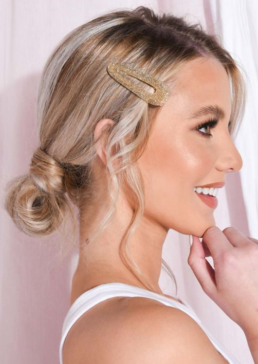 Glitter Oversized Hair Clip Rose Gold