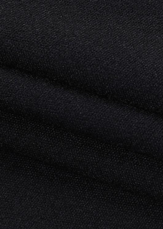 Halterneck Long Sleeve Side Cut Out Bardot Midi Dress Black