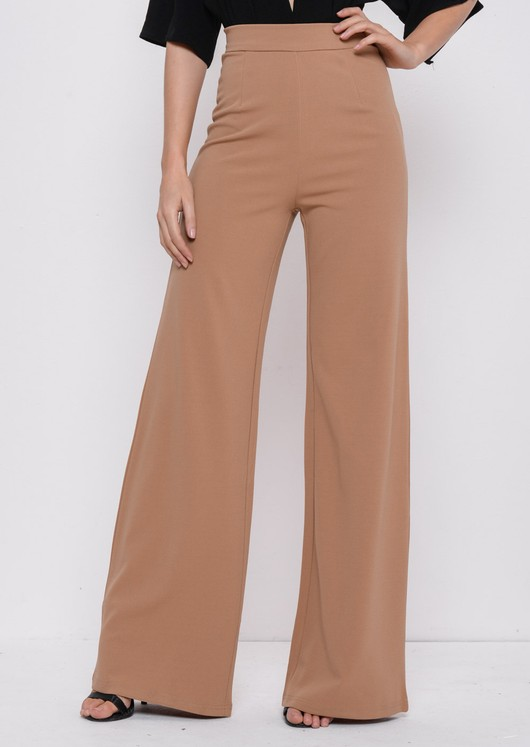 38af88a7e78a8 LILY LULU FASHION. High Waisted Camel Wide Leg Palazzo Trousers Beige.  £28.00. BUY AT LILY LULU FASHION · High Waisted Triple Button Jeans Leather  Look ...