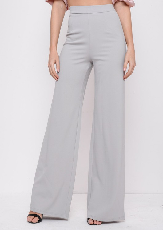 High Waisted Wide LegPalazzo Trousers Grey