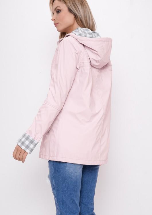 Waterproof Hooded Festival Rain Mac Coat Dusty Pink