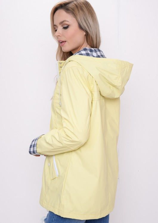 Waterproof Hooded Festival Rain Mac Coat Yellow