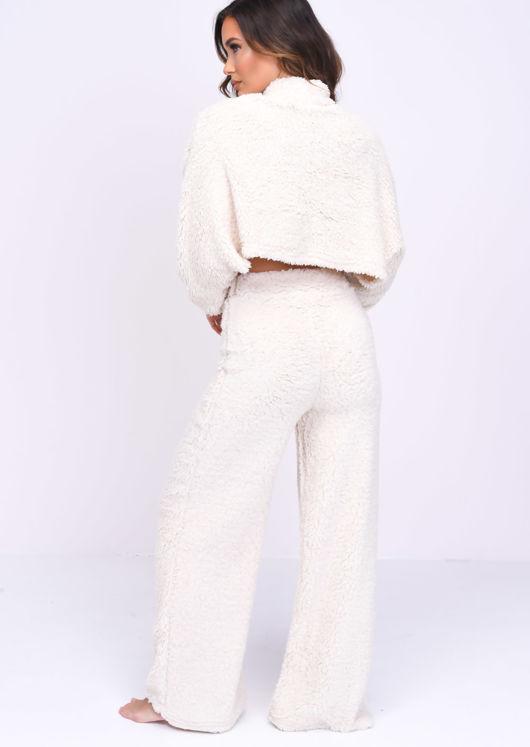 Teddy Borg High Neck Loungewear Co Ord Set Beige