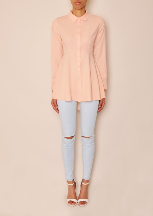 data/2015-/April 2/katie dip hem peplum shirt pink front.jpg