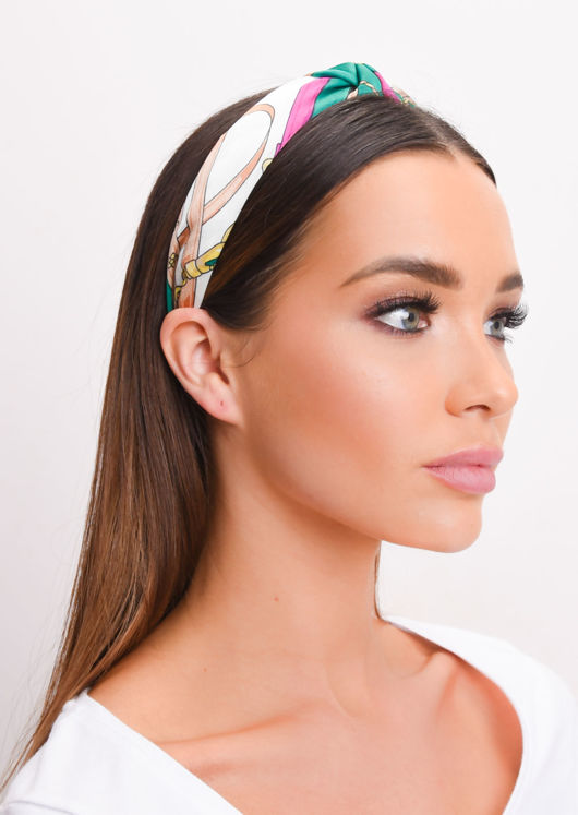 Knot Scarf Print Headband Multi
