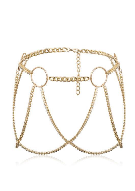 Layered Loop Chain Statement Belt Gold