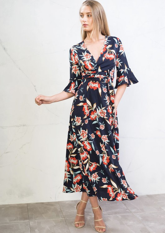 0d97b53125 multi-floral-wrap-over-bell-sleeve-maxi-dress-navy-blue-cassandra-2.jpg
