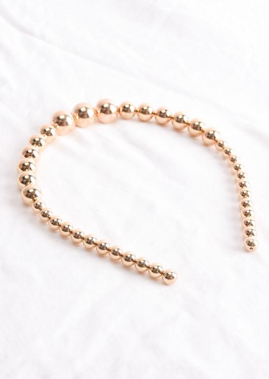 Pearl Headband Gold