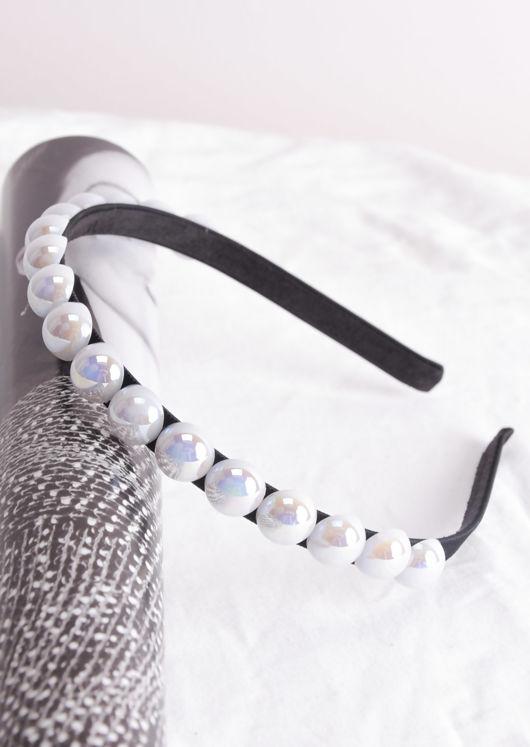 Pearl Headband White
