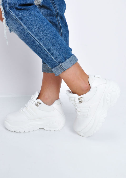 Platform Chunky Sole Trainers White