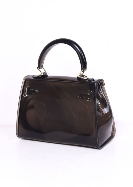 Clear French Jelly Tote Bag Black