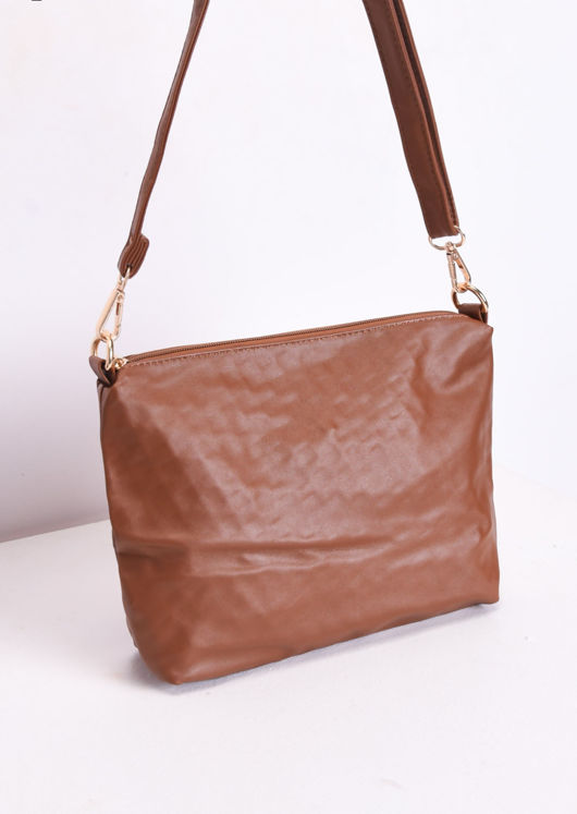 Reversible Woven Tote Bag Brown