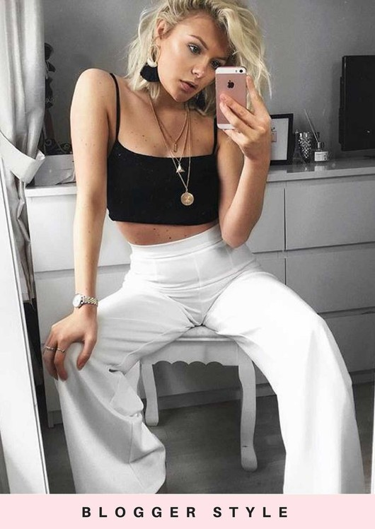 High Waisted Cream Wide Leg Palazzo Trousers White