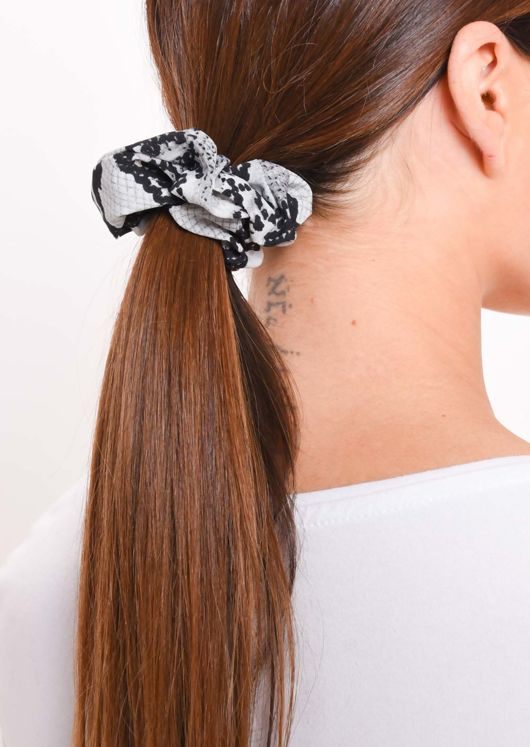 Snake Print Hair Scrunchie Multi