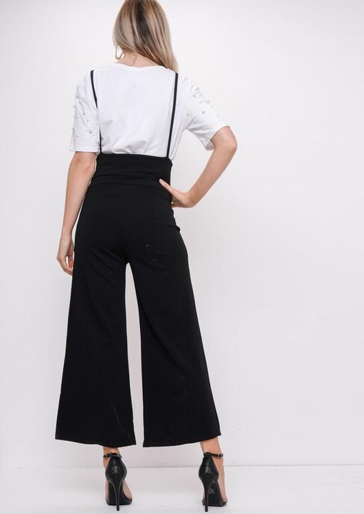 Strappy Culotte Jumpsuit Black
