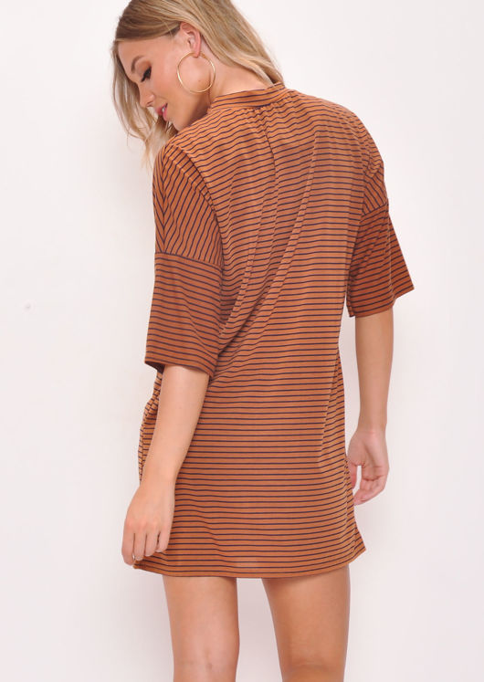 Striped Oversized T-Shirt Dress Multi