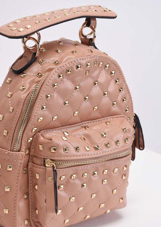 Studded Mini Backpack Nude Pink