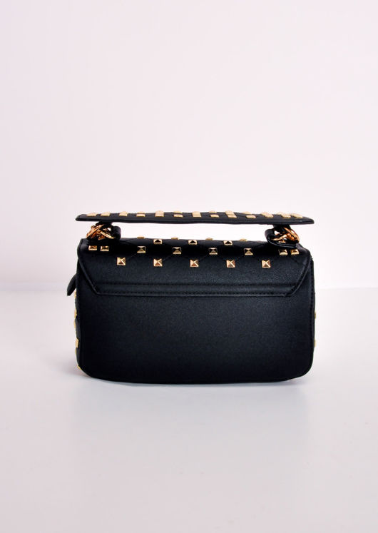 Studded Mini Shoulder Bag Black
