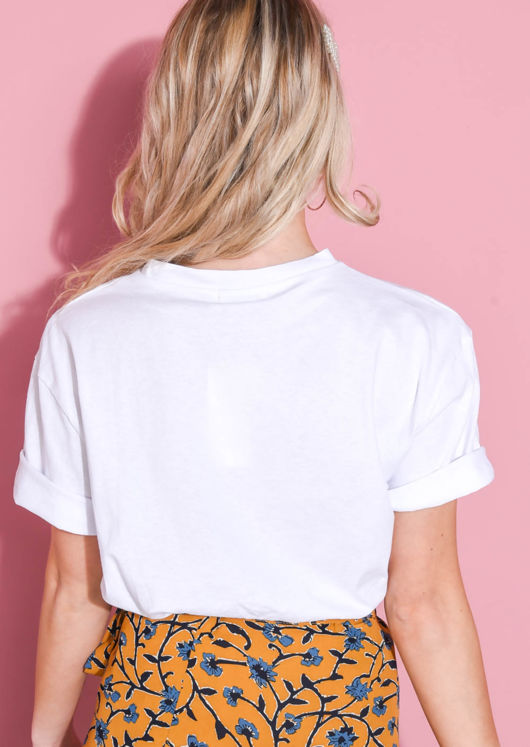 Summer Slogan Street Style Print T Shirt White