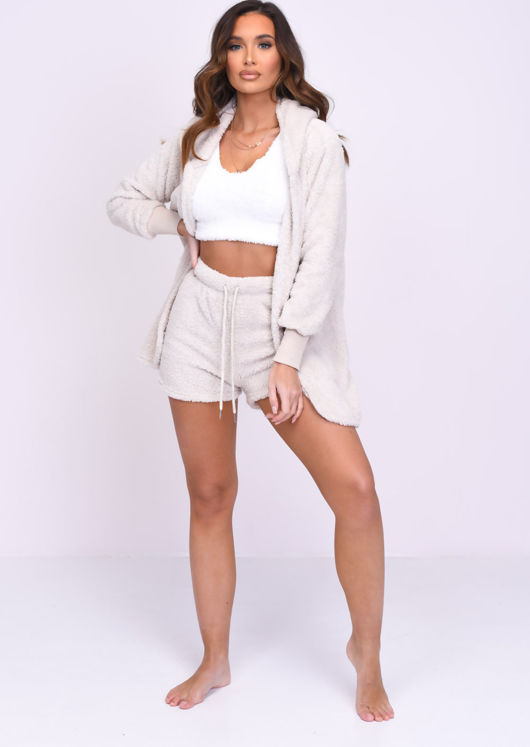 Teddy Borg Short Loungewear 2 Pieces Set Beige