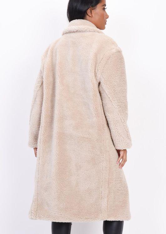 Teddy Borg Longline Coat Cream Beige