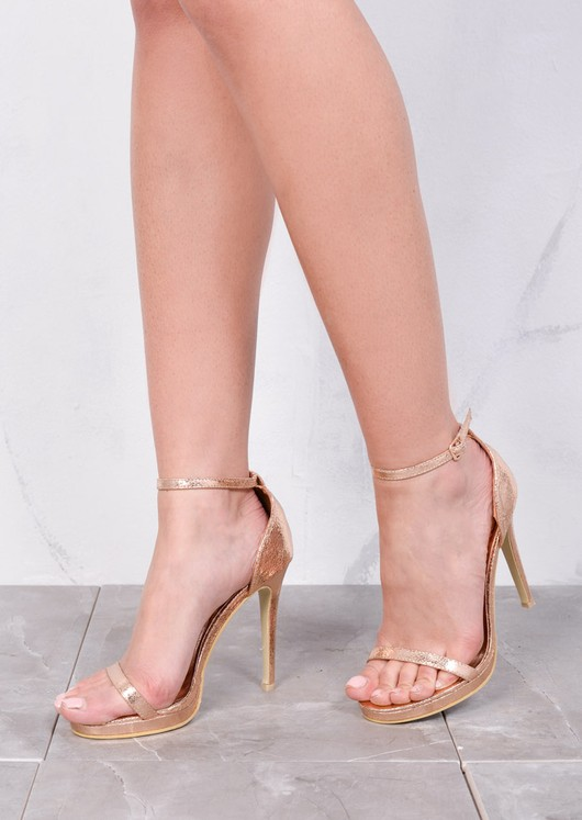 345573d202a Strapped Platform Barely There Heeled Sandals Rose Gold