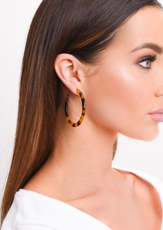 Tortoiseshell Hoop Earrings Multi