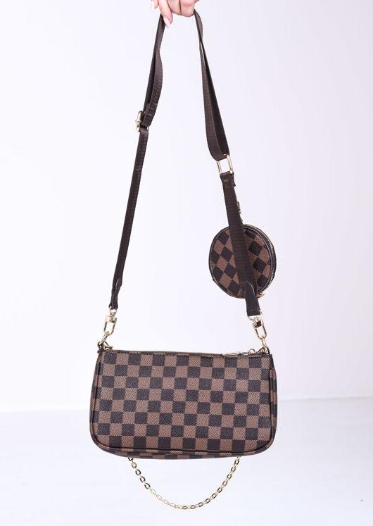 Trio Chain Cross Body Bag brown