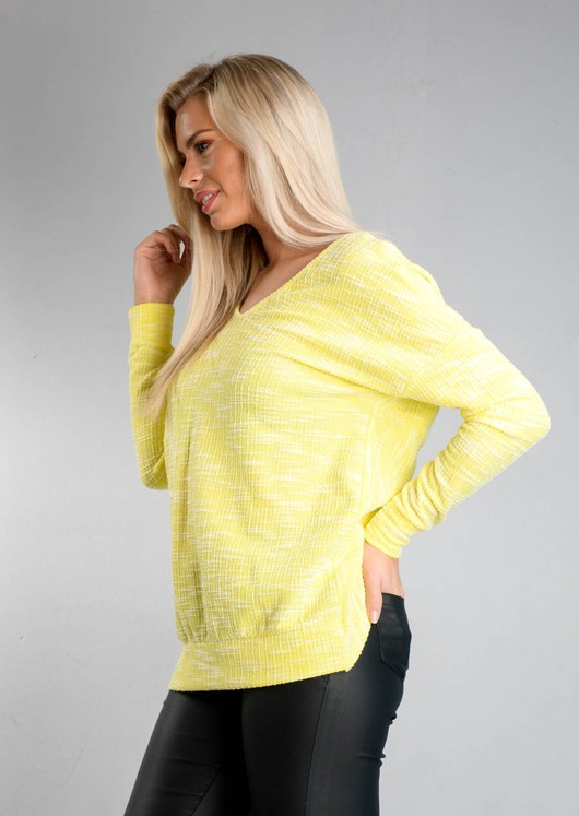 Twist Back Long Sleeve Jumper Yellow