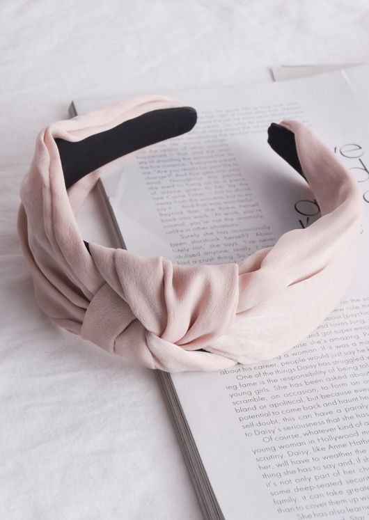Twist Knot Headband Beige