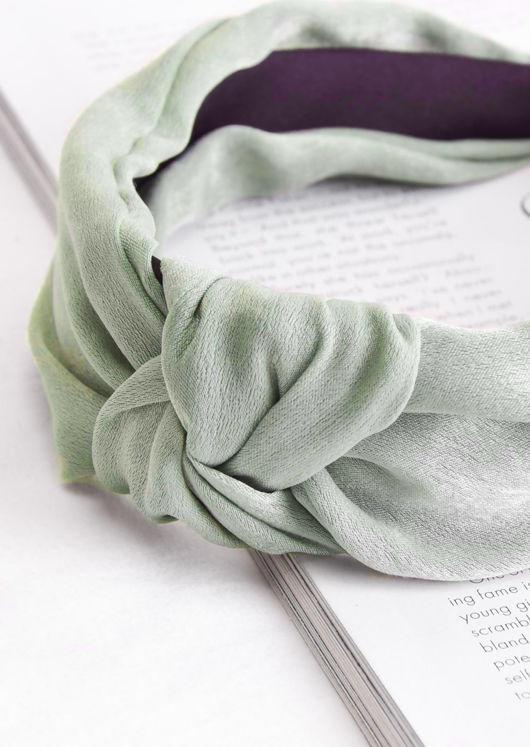 Twist Knot Headband Green