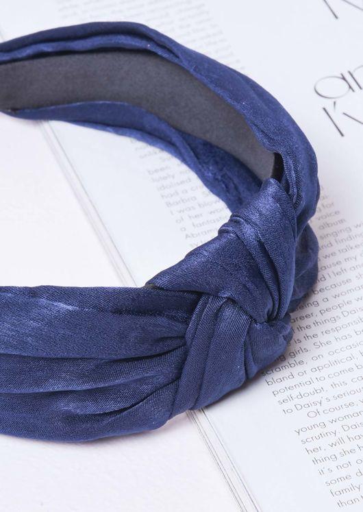 Twist Knot Headband Navy Blue