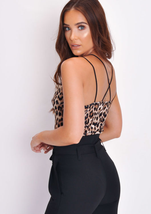Velvet Leopard Print Bodysuit Multi
