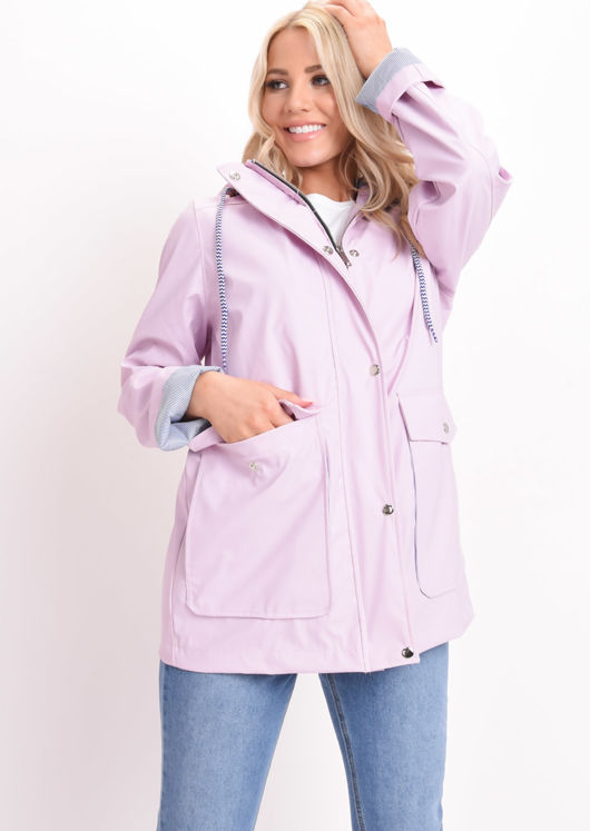 Waterproof Hooded Festival Rain Mac Coat Baby Pink